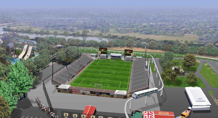 These days, there's a food angle in every story, including the proposal to construct an 8,000-seat facility for professional soccer's return to Sacramento in 2014.