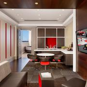 The hospitality suites at the Circuit of the Americas won the ASID award for best hospitality design. It was done by The Bommarito Group.