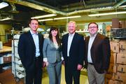 No. 3 Senderra RX -- From left: Tom Bohannon, senior vice president of sales; Jelena Opancina, senior vice president of operations; Win Purifoy, chairman; Will Howard, president. The four founded the specialty pharmacy.