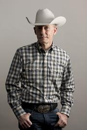 "Lyle Lovett shown wearing one of his signature ""Lyle Lovett for Hamilton"" shirts. The Stetson is up to you."
