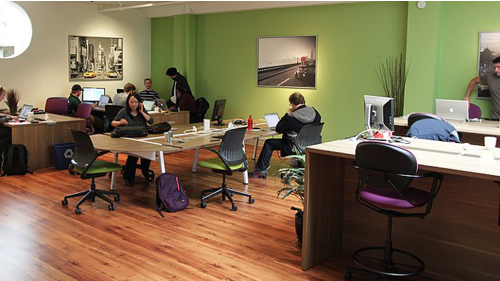A look inside one of the co-working locations by San Francisco-based Sandbox Suites. The company recently opened a new location in Silicon Valley.