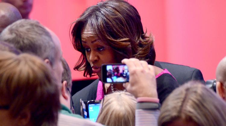 Michelle Obama helped launch a new website for helping veterans find jobs.