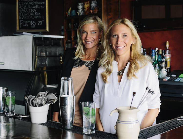 Jill Peterson Burns, left, and Kelly Gasink have created four flavors of their new brand of alcoholic drinks named Austin Cocktails.
