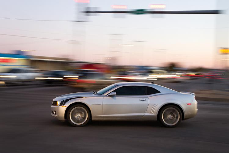 A car turns from Kellogg on to Webb Rd. Tuesday night during rush hour. The Kellogg and Webb Rd. intersection is the busiest intersection in Wichita.