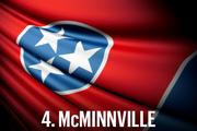 No. 4 McMinnville McMinnville retained its ranking at 47th amongst the 50 cities in 2013. The city continues its struggles with high unemployment, a low median income and diminishing population. High sales taxes and low average ACT scores also aid in keeping this city stagnant from year to year.  Economic Vitality Ranking:  18.7 (46th)  Business Tax Burden Ranking:  35.1 (41st)  Community Allure Ranking:  46.9 (43rd)  Overall Ranking:  30.9