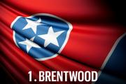 No. 1 Brentwood For the second-straight year, Brentwood claims the title as Tennessee's Most Business-Friendly City. Although just fractions of a point separated Brentwood from the second-place finisher, the city was able to defend its status as the most economically vital city of 2012, retaining the top spot in this category for 2013.  Brentwood also ranked 6th in both Community Allure—up nine spots from last year—and Business Tax Burden. The city repeated its 2012 achievement of the highest median household income in the state, while also graduating the highest percentage of students and achieving the lowest crime rate per capita.  Economic Vitality Ranking: 88.9 (1st) Business Tax Burden Ranking:   82.4 (6th)  Community Allure Ranking:   68.5 (6th)  Overall Ranking:   82.2 Source: Beacon Center of Tennessee