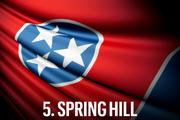 No. 5 Spring Hill Spring Hill finished at number five for the second straight year, continuing to maintain relatively low tax rates and unemployment. The city moved up five spots to finish first in Community Allure, with a lower cost of living than the other top five cities giving Spring Hill the competitive edge. It also continued to build upon its growth spurt from last year, posting the second-highest population increase for 2013.  Economic Vitality Ranking:  71.8 (5th)  Business Tax Burden Ranking:  71.8 (11th)  Community Allure Ranking:  75.5 (1st)  Overall Ranking:  75.1
