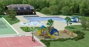 The pool area at the Cramer Mountain Club would be renovated, according to residents' plans.