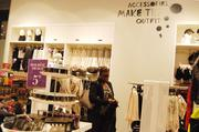 Shoppers browse H&M's first Charlotte store.