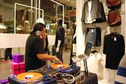 Loud music pulsated throughout the store on opening night.