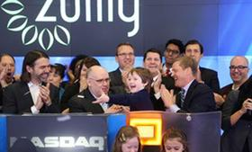 The mom and children's flash-sales site Zulily brought some pint-size partners for its debut on the Nasdaq.