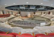 The Harry T. Wilks Theatre is near completion. The mid-size performance venue will host a variety of functions.