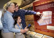 The Extreme Earth exhibit is one of three with which guests can interact using new tablets.
