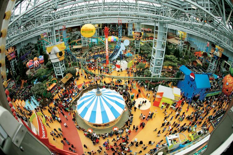 The Mall of America's Nickelodeon Universe
