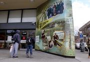 The giant outdoor mural wraps around the front of the Wells Fargo branch at 4100 University Way N.E., measuring about 650 square feet, the largest of the bank's 1,800 murals across the U.S.