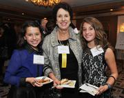 Honoree Esther Newman. founder and CEO of Leadership Montgomery, with granddaughters Staci and Jordyn Loring.