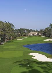 Legacy Club at Alaqua Lakes has a 10-acre practice facility and an 11,000-square-foot clubhouse. Shown: 9th hole