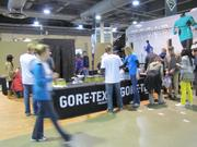 The booth for W.L. Gore & Associates, the Newark, Del.-based maker of Gore-Tex and the marathon's title sponsor.