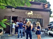 Crowds from the Maker Faire showed up at local stores like Panther Coffee.