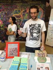 Eric Karbeling, volunteer with Miami-based U-Doodle, a not-for-profit group that encourages social interaction and creativity with public art.