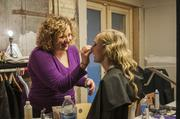Amanda Zdrok of Aveda and Ashley Mueller, a student at the University of Wisconsin-Milwaukee