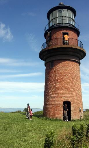 The Gay Head Light is one of the most recognizable landmarks in the remote Vineyard town of Aquinnah. This photo was taken during President Barack Obama's visit to the island in 2009.