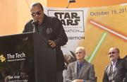 Billy Dee Williams Jr., who played Lando Calrissian, spoke to the crowd.