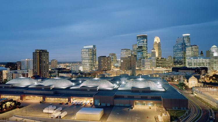 The Minneapolis Convention Center is in the running to host the National Veterans Small Business Conference in December.