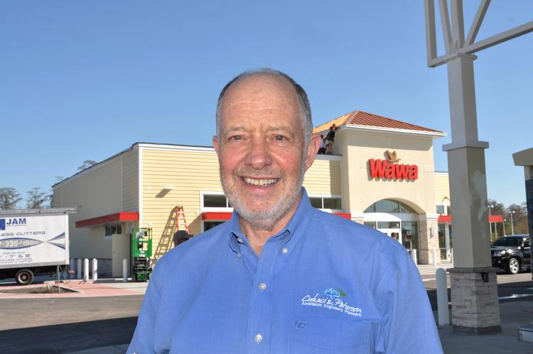 Lonnie Peterson of Cuhaci & Peterson Architects LLC at the new Wawa on 436 and Auvers Boulevard