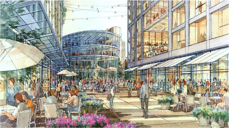 An artist rendering of the Government Center Garage project. The $2.2 billion project will add new office, retail, housing and hotel bounded by New Sudbury, Bowker, New Chardon and North Washington streets.