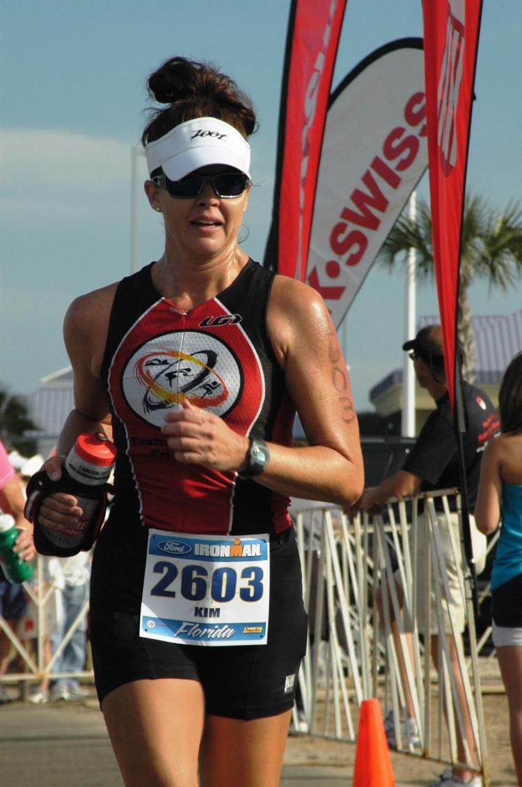 Kim Hutto of PSAV competing in an Ironman