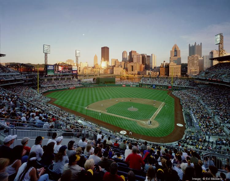 PNC Park, Pittsburgh Home of the Pittsburgh Pirates • Rank: 1 • Opened: 2001 • Capacity: 38,496 Sherlock said PNC, which sits on the banks of the Allegheney River, shines because of its fractured design, which opens to the bridges and buildings that define downtown Pittsburgh.