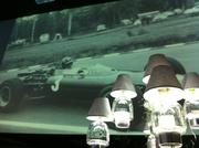 The walls inside Ballet Austin were turned into huge video screens showing vintage photos of F1 races. The chandeliers were comprised of Patron tequila bottles.