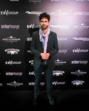 Actor Adrian Grenier at the Amber Lounge during the U.S. Grand Prix in Austin.