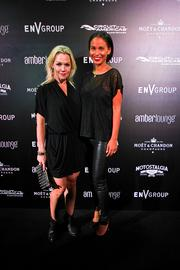 Actresses Jennie Garth and Joy Bryant at the Amber Lounge during the U.S. Grand Prix in Austin.