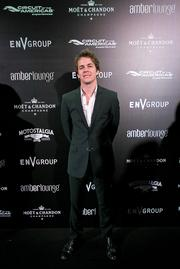Actor Johnny Simmons at the Amber Lounge during the U.S. Grand Prix in Austin.