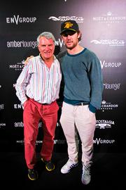 Alex Pettyfer and guest at the Amber Lounge during the U.S. Grand Prix in Austin.