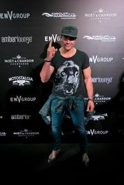 Actor Manu Bennett at the Amber Lounge during the U.S. Grand Prix in Austin.
