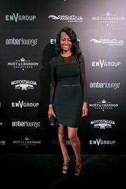 Actress Nichole Galicia at the Amber Lounge during the U.S. Grand Prix in Austin.