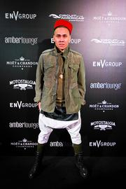 Musician Taboo of Black Eyed Peas at the Amber Lounge during the U.S. Grand Prix in Austin.