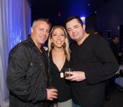 Matt LeBlanc, Ginger Leigh and friend hang out at Blu at the W Hotel during the U.S. Grand Prix weekend.