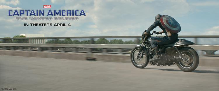 Captain America will ride the new Harley-Davidson Street 750 and new Softail Breakout in the upcoming sequel.