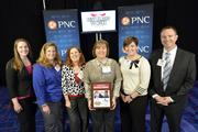 "Team members with A.M. King Construction with the No. 1 Best Places to Work award in the small company category.Using the case-sensitive password ""CBJ,"" event attendees and award winners may download their photos here. Email nancy@nancypiercephoto.com with questions on that process."