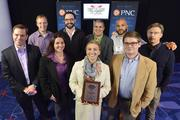 "Cardinal Solutions Group team members with their No. 7 Best Places to Work award in the midsized company category.Using the case-sensitive password ""CBJ,"" event attendees and award winners may download their photos here. Email nancy@nancypiercephoto.com with questions on that process."