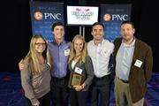 "The Charlotte Checkers accepted the No. 22 Best Places to Work award in the small company category.Using the case-sensitive password ""CBJ,"" event attendees and award winners may download their photos here. Email nancy@nancypiercephoto.com with questions on that process."