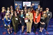 "Team members of Deloitte with their No. 2 Best Places to Work award in the large company category.Using the case-sensitive password ""CBJ,"" event attendees and award winners may download their photos here. Email nancy@nancypiercephoto.com with questions on that process."
