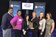 "GM Financial team members with their No. 5 Best Places to Work award for the large company category.Using the case-sensitive password ""CBJ,"" event attendees and award winners may download their photos here. Email nancy@nancypiercephoto.com with questions on that process."