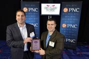 "Anthony Eshaghi and Tom Mutaffis of Kforce Inc., the No. 28 Best Places to Work in the small company category.Using the case-sensitive password ""CBJ,"" event attendees and award winners may download their photos here. Email nancy@nancypiercephoto.com with questions on that process."