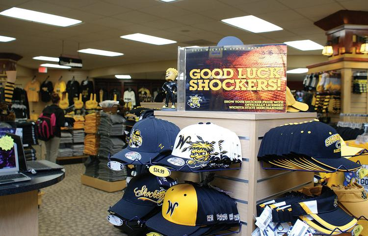 Sales of Shockers merchandise at the Wichita State University bookstore are about triple what they normally would be during this time of year. Bookstore Director Kevin Konda attributes that mainly to the NCAA tournament. The university is also benefiting from licensed merchandise sold elsewhere.