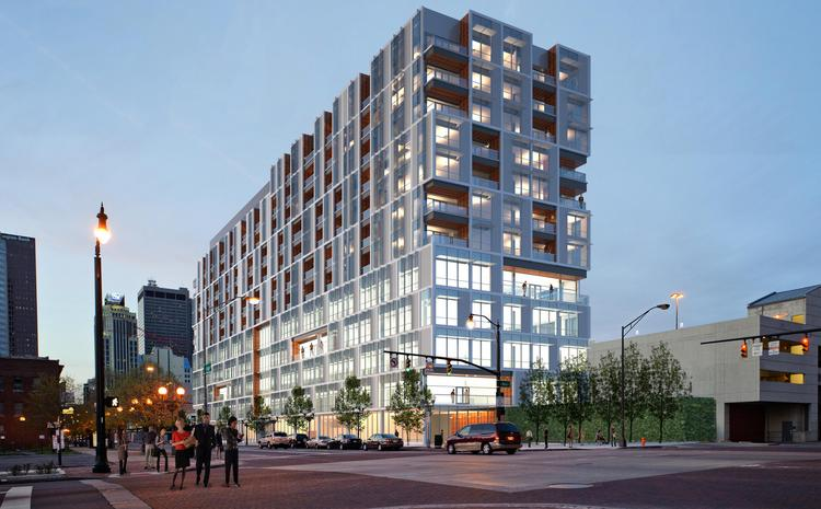 250 S. High would be among projects to benefit from a new city policy on incentives.